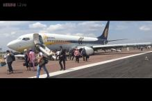 Jet Airways plane experiences a technical problem while landing at Khajuraho airport