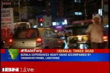Heavy rain lashes Kerala, three killed