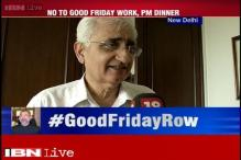 Good Friday row: This is a family matter for SC, must be settled internally, says Khurshid