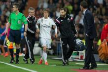 Real Madrid's Luka Modric has injured knee ligament