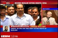 Owaisi slams Sanjay Raut, says no one can take away voting rights of Muslims
