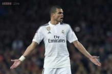 Real Madrid defender Pepe sidelined by thigh injury