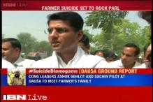 Congress leaders Ashok Gehlot, Sachin Pilot attend Gajendra's last rites; BJP, AAP give it a miss