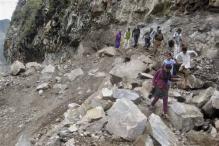 Landslide on Badrinath route, 500 pilgrims stranded