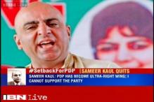 PDP's chief spokesperson Sameer Kaul resigns, calls party ultra right-wing