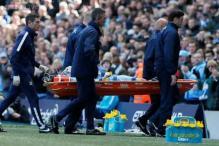 Manchester City's David Silva taken to hospital with cheek injury