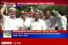 Andhra CM briefs Home Minister after police kills 20 smugglers; fresh protests in Chittoor, Chennai