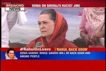 Difficult for me to react on remarks of people with narrow mentality: Sonia on Giriraj Singh