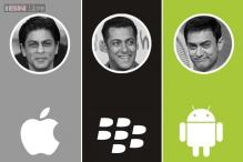 In the Bollywood iPhone jungle, Salman Khan the lone BlackBerry ranger; Aamir Khan, Vishal Dadlani hunt with Androids