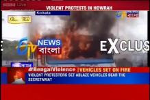 WB: TMC workers indulge in violence in Howrah, set vehicles on fire