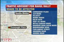 Traffic advisory for Rahul Gandhi's Kisan rally in Delhi