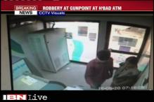 Watch: Woman robbed at gunpoint inside an ATM in Hyderabad