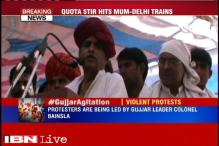 Members of gujjar community protest demanding quota in all government institutions in Rajasthan