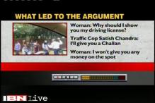 Woman refused to show her licence to Delhi Traffic policeman, abused him before he threw brick