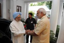 PM Narendra Modi meets his predecessor Manmohan Singh at 7 RCR