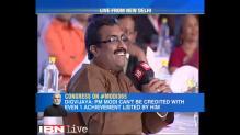 Ram Madhav, Digvijaya Singh clash over corruption charges at Network 18's 'Modi Sarkar Year One Dialogue'