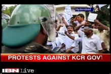 Osmania University students protests KCR's decision to acquire 11 acres of land