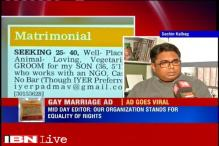 Gay matrimonial ad: Our organisation stands for equality of rights, says Mid-Day Editor