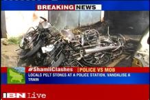 UP: Locals clash with police officials in Shamli