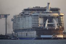 World's largest cruise ship takes to the water in France
