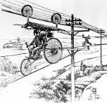 Past Tech: Aerial bicycle from 1885