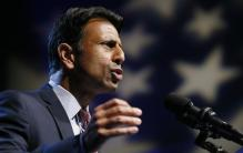 Bobby Jindal mocked for posing with gun at a US presidential campaign stop