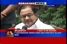 Why didn't Sushma insist Lalit Modi to return to India, asks Chidambaram