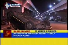 Ahmedabad:  2 dead, 4 injured after speeding car runs over 6 members of a family