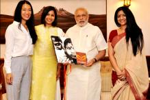Look of the day: Freida Pinto goes ethnic as she meets Prime Minister Narendra Modi over Girl Rising campaign