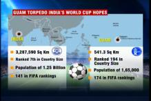 A country with population less than Noida beats India in football
