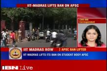 IIT-Madras lifts ban on students body APSC after criticism