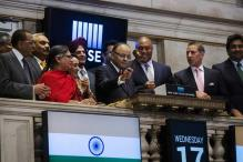 Arun Jaitley rings closing bell at New York Stock Exchange