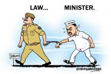 Cartoon of the day: Delhi Law Minister Jitender Tomar arrested