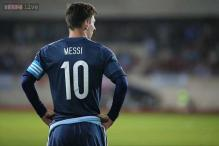 Lionel Messi celebrates 100 international matches with Argentina