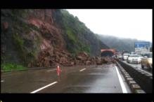 Traffic on Mumbai-Pune expressway comes to a standstill following a landslide