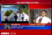 Voice of dissent in BJP: Former home secretary RK Singh says no one should help an absconder like Lalit Modi