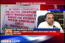 IIT Madras row: Completely agree with RSS, says Subramanian Swamy
