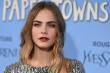 Actress Cara Delevingne is not fond of wearing make-up