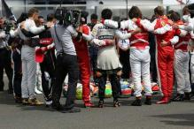 Minute's silence held for Jules Bianchi ahead of Hungarian GP