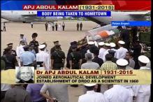 Former president Kalam's body flown to Rameswaram, last rites to take place on Thursday