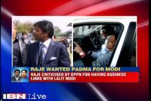 Vasundhara Raje recommended Lalit Modi for Padma Award in 2007