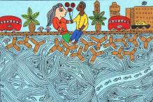8 Madhubani style paintings that depict Mumbai life in all its glory