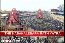 Thousands gather for the century's first Nabakalebara Yatra celebrations in Puri today