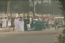 Protests in Jammu and Kashmir after Eid prayers; Pakistani flags raised