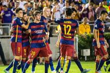 Barcelona beat LA Galaxy 2-1 before record Rose Bowl crowd