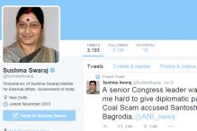 Now, Sushma Swaraj categorises Twitter handle as 'personal'