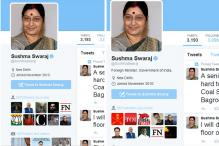Sushma Swaraj removes her designation from Twitter profile, later adds it