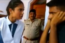 Girl from UP's Pilibhit district beats up an eve-teaser inside a police station; officers don't interfere