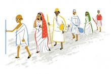 On India's Independence Day, Google doodles Mahatma Gandhi's 1930 Dandi March