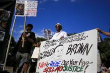 Ferguson protests mostly peaceful on anniversary of Brown shooting
